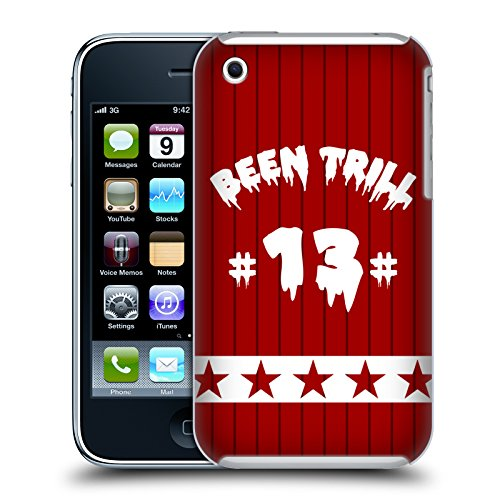 Official Been Trill Red Star Jersey Hard Back Case for Apple iPhone 3G / 3GS