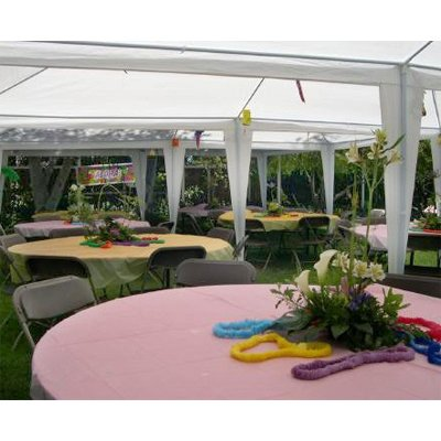 Palm Springs 10 x 30 Foot White Party Tent Gazebo Canopy with Sidewalls  sc 1 st  C&ing Companion & Palm Springs 10 x 30 Foot White Party Tent Gazebo Canopy with ...