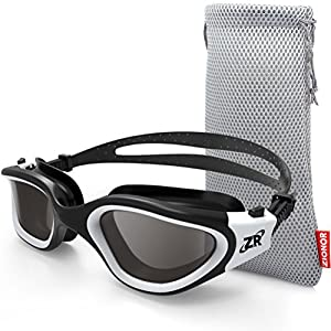 ZIONOR Swimming Goggles, G1 Polarized Swim Goggles UV Protection Watertight Anti-Fog Adjustable Strap Comfort fit for…