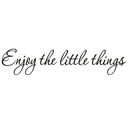 enjoy the little things vinyl wall decal saying family room quotes sayings stickers wall decor - Kitchen Sayings