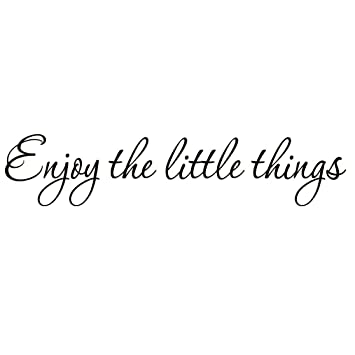 Amazon Com Enjoy The Little Things Vinyl Wall Decal Saying Family