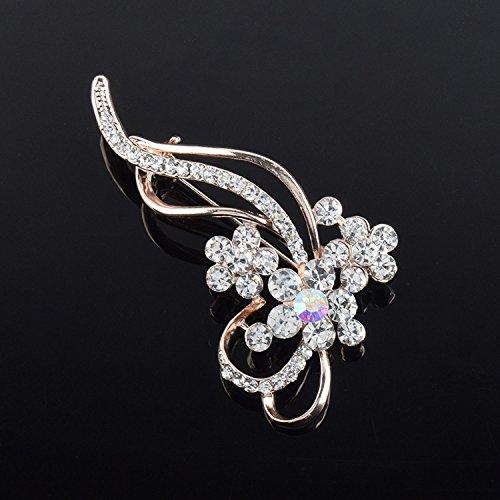 8f710647dbb Amazon.com : High-grade crystal flower brooch pin Korean diamond flower brooch  clothes accessories like custom : Beauty