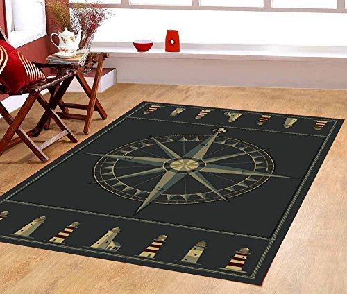 Area Rug With Compass Rose Anchor Your Focal Point