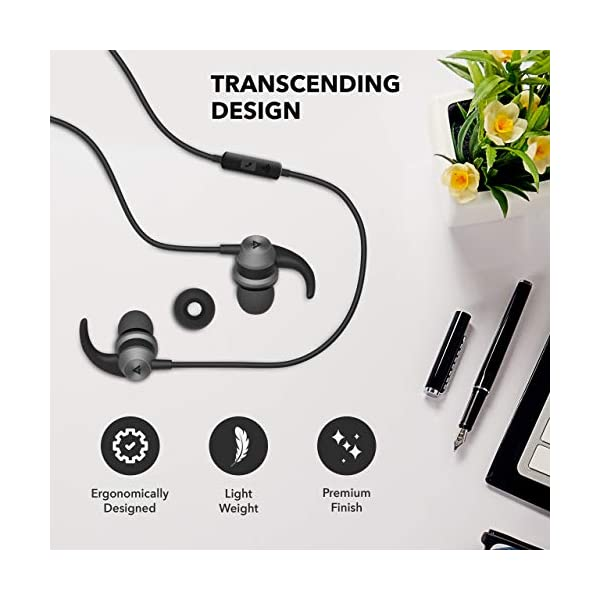 518yuv2cdqL Boult Audio BassBuds X1 in-Ear Wired Earphones with Mic and 10mm Powerful Driver for Extra Bass and HD Sound (Black)