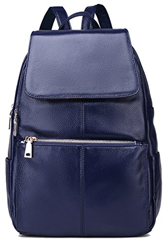 coolcy-casual-women-real-genuine-leather-backpack-royal-blue