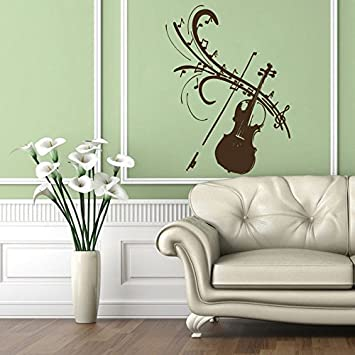 Wall Decals Art Music Instrument Violin Bow Relax Any Room Decal - Wall decals relax