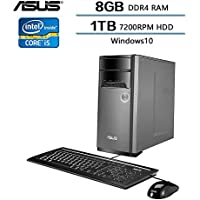 ASUS High Performance Desktop Tower Intel Quad Core i5-6400 (2.70 GHz, Up to 3.3GHz), 8GB DDR4 RAM, 1TB 7200RPM HDD, 802.11ac Wifi, Bluetooth, Windows10 (Certified Refurbished)