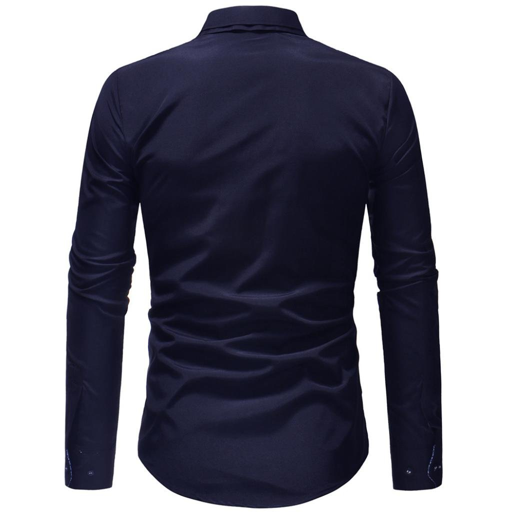 Sannysis Camisa Bamb/ú Fibra Hombre en Forma Delgado de S/ólido Casual Camisa El/ástica Formal Camisas de Vestido Formal Moda Manga Larga Apta Delgada con Estilo C/árdigans