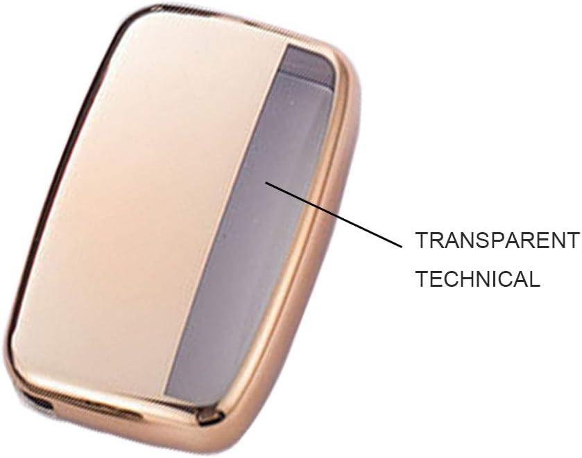 Couvercle de cl/é de protection en silicone souple TPU Heart Horse pour Land Rover Evoque Key Dhell Jaguar Fob Aurora XEL XFL /Étui pour cl/é /étui de cl/é F-pace Rouge