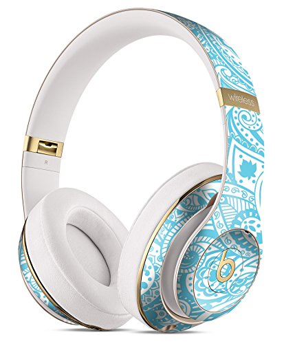 (Light Blue Paisley Floral DesignSkinz Full-Body Skin Kit for the Beats by Dre Studio Remastered Wireless Headphones / Ultra-Thin / Matte Finished / Protective Skin Wrap)