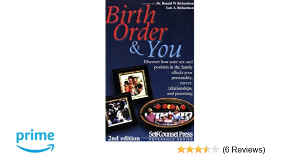 Birth Order And You (Reference Series): Dr  Dr  Ronald W