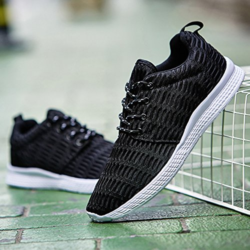 Trail Running Casual Mesh Sport Walking Men Travel Black for Sneaker Breathable Shoes Outdoor d8IIqp