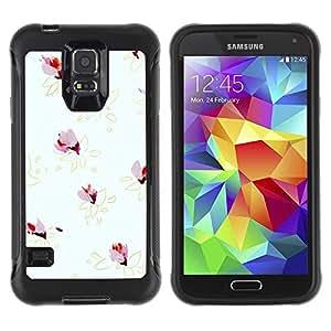 LASTONE PHONE CASE / Suave Silicona Caso Carcasa de Caucho Funda para Samsung Galaxy S5 SM-G900 / Grey Yellow Gold Minimalist Pattern