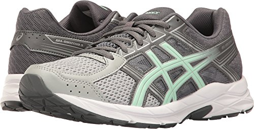 ASICS Womens Contend 4 Running Sneaker, Mid Grey/Glacier Sea/Silver, Size 9.5 Wide