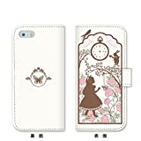 MADE IN JAPAN Wallet Case Alice in Wonderland for iPhone 8, White color