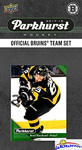 Boston Bruins 2017/18 Upper Deck Parkhurst NHL Hockey EXCLUSIVE Limited Edition Factory Sealed 10 Card Team Set including Charlie McAvoy Rookie, Zdeno Chara & All the Top Stars & RC's! WOWZZER!