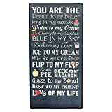 P Graham Dunn You Are the Peanut to My Butter Love of My Life 18 x 9 Wood Wall Plaque Sign