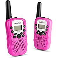 Denmer T388 2Pcs Mini Walkie Talkie 3-5KM Range 22-Channel FRS/GMRS UHF Two-Way Radios Colorful Walkie-Talkie For Kid