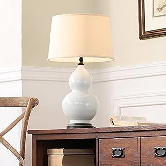 Haushaltsartikel Kürbis Keramik Tischlampe Weiß / Rot / Schwarz / Wohnzimmer  Schlafzimmer Nachttischlampe Stoff Leuchte