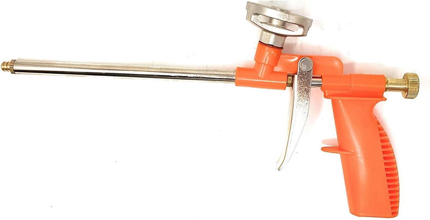 Schaumpistolen Espuma de Construcción PU Abdichtungspistole Profundidad Espuma PU Psitola de Espuma de Construcción Tubo Metálico, de Plástico, con Mango de Plástico, Palanca Metal