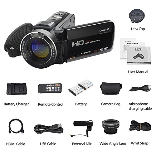 Video Camera, LAKASARA Full HD 1080P 30FPS WIFI Camera Camcorder DVR with External Microphone and Wide Angle Lens by LAKASARA (Image #6)