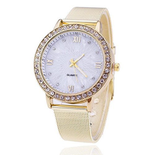 Creazy® Geneva Women Diamond Analog Stainless Steel Quartz Wrist Watch Watches