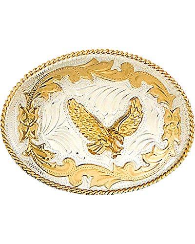 WESTERN EXPRESS Men's German Eagle Belt Buckle Silver One ()