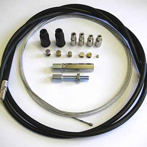 (Venhill U01-4-100-BK Universal Motorcycle Throttle Cable Kit - 6mm OD)