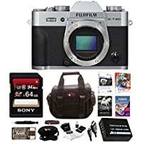 Fujifilm X-T20 Mirrorless Camera Body 64GB Body Bundle (Silver)