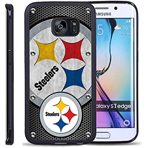 S7 Edge TPU Case,Pittsburghsteelers 03 PREMIUM BUMPER Bumper Style Premium Case Slim Fit Dual Layer Protective Cover for Samsung Sales