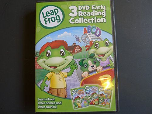 Leapfrog 3 Dvd Early Learning Collection - Letter Factory / The Amazing Alphabet Amusement Park / Scout & Friends Phonics Farm (Collection Tasman)