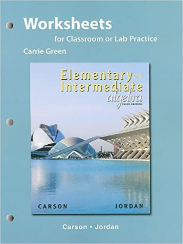 Worksheets for Classroom or Lab Practice for Elementary and ...