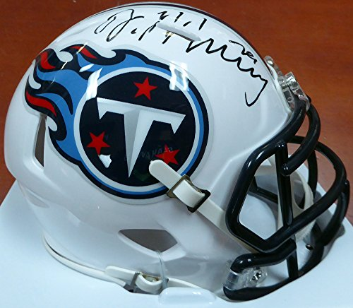 DeMarco Murray Autographed Tennessee Titans Speed Mini Helmet Over Holes Beckett BAS Stock (Signed Titans Mini Helmet)