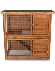 Klatka dla królików, klatka dla małych zwierząt, klatka dla zwierząt, klatka dla świnek morskich, willa z wysuwanymi szufladami