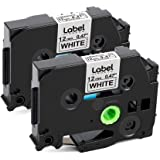 Amazon Com Greateam Compatible Label Tape Replacement For Brother Tze P Touch Label Tape 18mm 0 7 Tze 241 Tze241 Black On White Brother Label Maker Tape For Pt D400 Pt P750w Pt P710bt Pt D600 Office Products