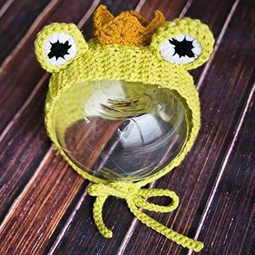 Crochet Baby Frog Prince Bonnet Hat Beanie Newborn Infant Toddler Child Photography Prop Handmade Baby Shower Gift