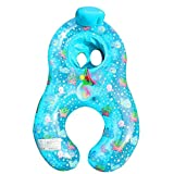 Kaimu Inflatable Mother Baby Swimming Ring Seat Pool Float Toy Baby Floats