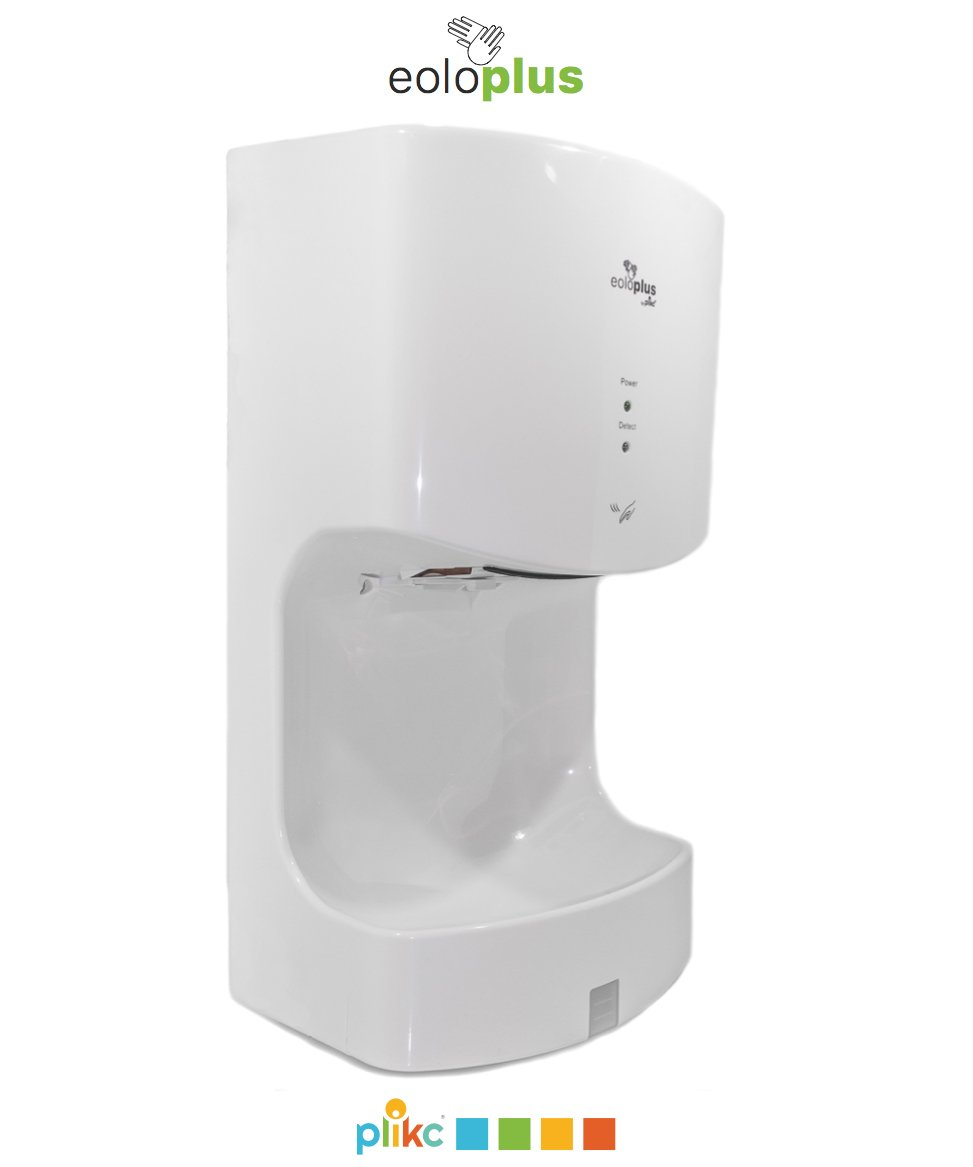 plikc EOLO PLUS - Electric automatic air curtains hand dryer and drip tray