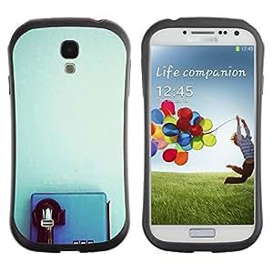 "Hypernova Slim Fit Dual Barniz Protector Caso Case Funda Para SAMSUNG Galaxy S4 IV / i9500 / i9515 / i9505G / SGH-i337 [Azul Teléfono retro del trullo Clean minimalista""]"