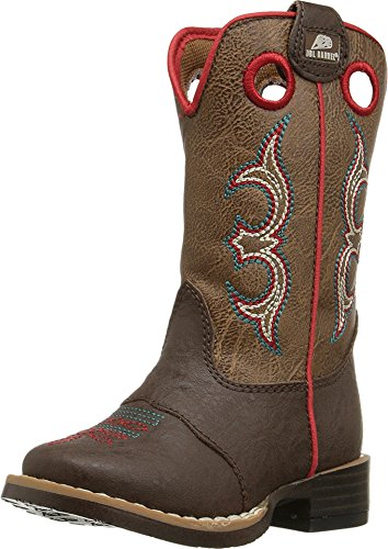 - Double Barrel Toddler-Boys' Kolter Zip Cowboy Boot Square Toe Brown 6 US