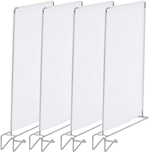 Estante separador de armario, 4 unidades, soporte de baño, organizador de cajones, clip para dormitorio, armario extraíble, diseño de alambre de almacenamiento, de polipropileno, para ahorrar espacio: Amazon.es: Ropa y accesorios