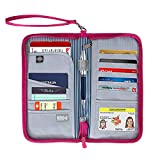 RFID Travel Wallet, Security for Your Passport, Credit Cards, IDs by Globite Australia (Wallet - Pink)