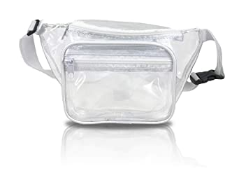 Clear Fanny Pack Stadium Security Approved Waist Bag For Events, Games, And Concerts Transparent by Nova Sport Wear