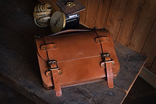 Inlander Briefcase, Leather Backpack Durable Heritage Quality by Craft & Lore