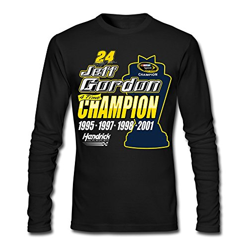 Nascar Winston Cup Champions (Nuoke Men's Jeff Gordon No 24 4 Time Champions Nascar Sprint Cup Long Sleeve T Shirt)