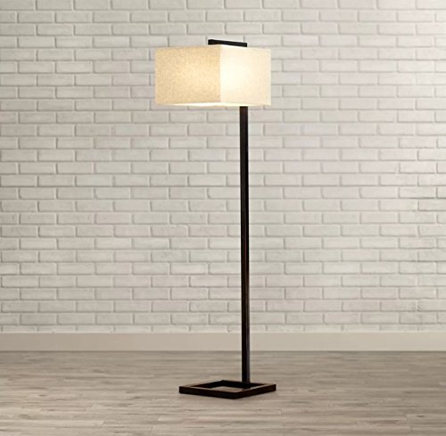 Welton 64'' Floor Lamp with Shade Included, Oil Rubbed Bronze Finish - Perfect to your Living Room and for Reading by Welton