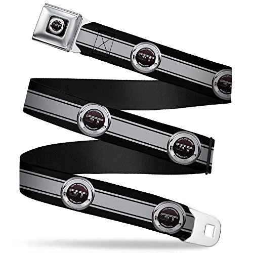 Mustang Belt Seat Belt Ford (Buckle-Down Seatbelt Belt - FORD GT CALIFORNIA SPECIAL Emblem Stripe Black/Gray/Silvers - 1.0