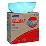 WypAll X70 Extended Use Reusable Wipers (41412), Pop-Up Box, Long Lasting Performance, Blue, 1 Boxes, 100 Sheets