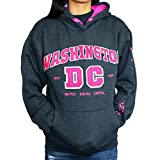 Washington DC Women's Gray with Pink Letters Hoodie