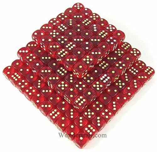 Red Glow in th Dark Spots d6 16mm 200ea by Koplow Games